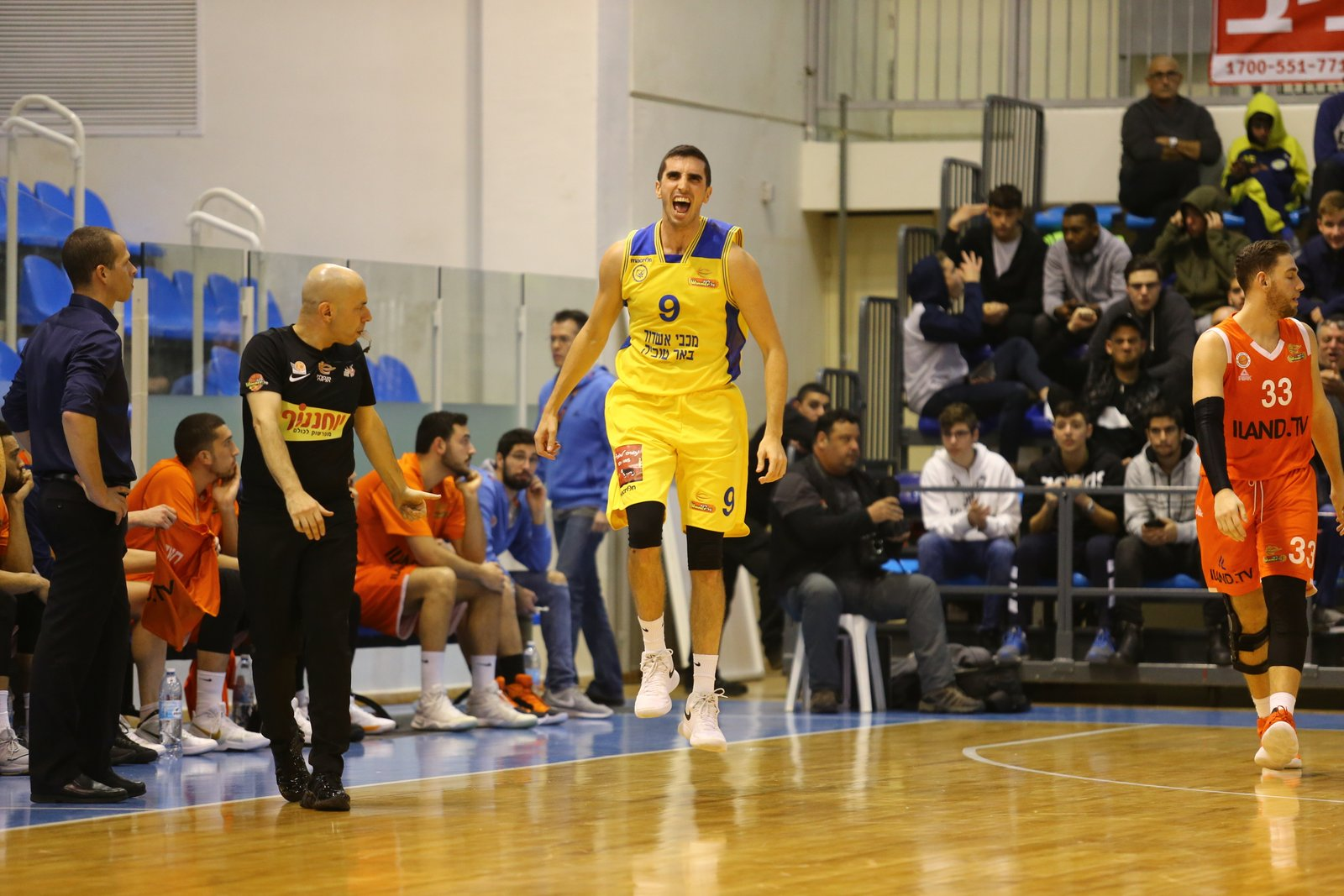 Maccabi Ashdod's Club Record 18 three's!