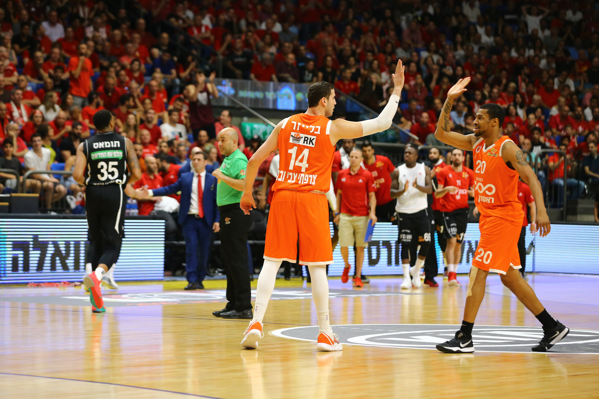 Final Four, 1/2 Finals: Hapoel Jerusalem - Maccabi Rishon 86:92