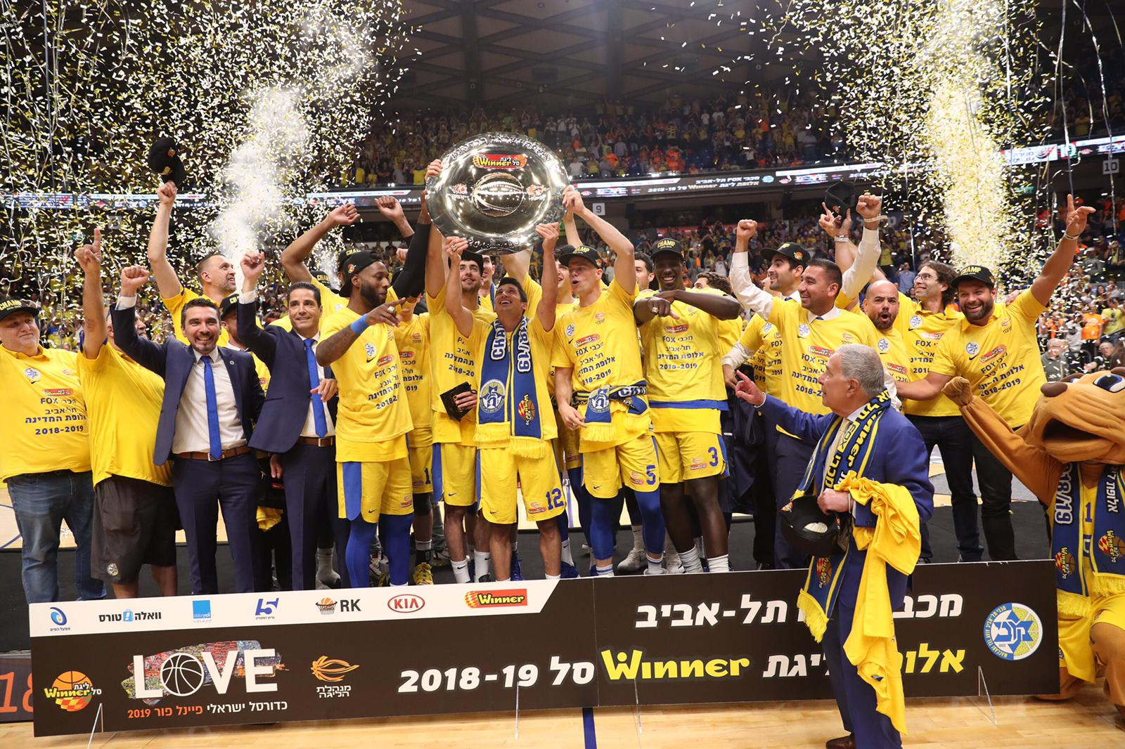 Maccabi Tel Aviv lifts the Championship Trophy
