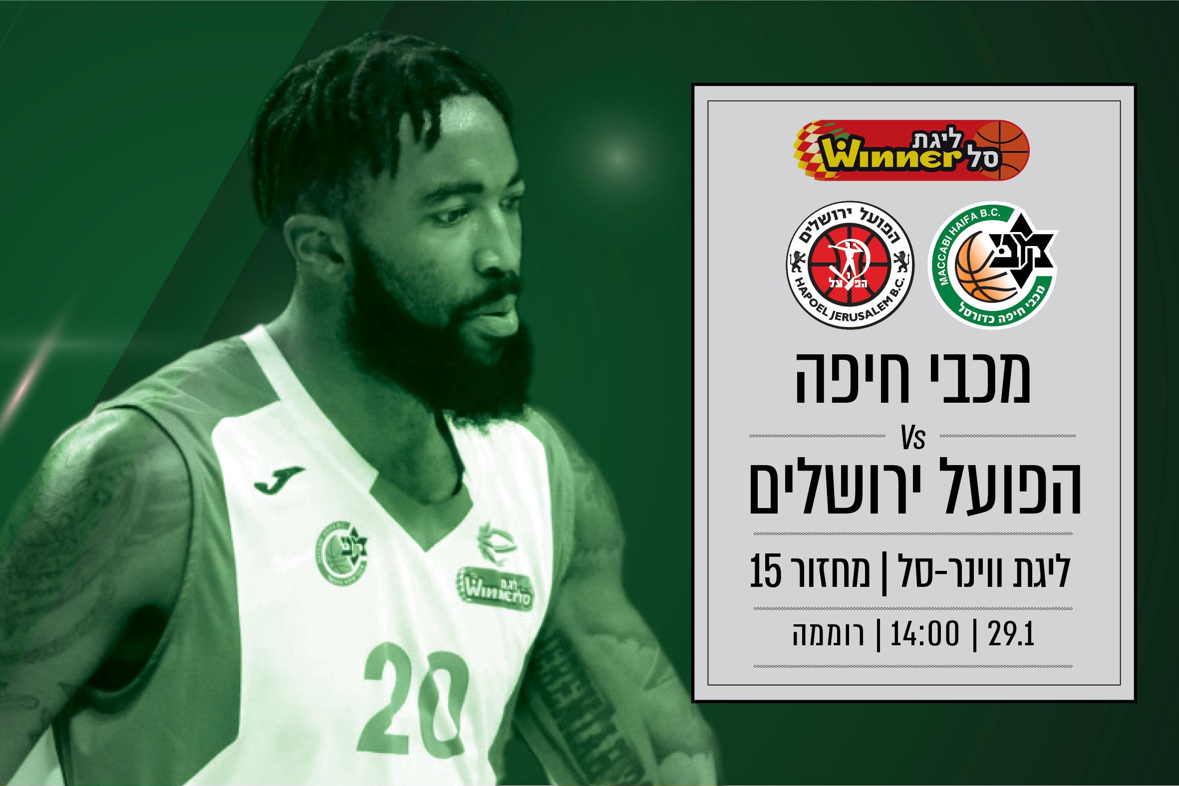מכבי תארח את ירושלים למשחק קשה בניסיון לחבר שני ניצחונות ברצף